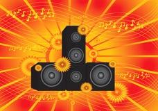 Orange  music background Royalty Free Stock Photo
