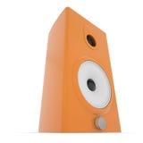 Orange music column. Isolated render on a white background Stock Photos