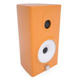 Orange music column. Render on a white background Royalty Free Stock Images