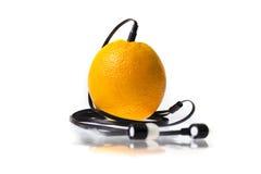 Orange music player Stock Photos