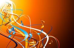 Orange musical background with notes. Orange abstract musical background with colorful notes. Vector illustration vector illustration