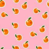Orange Muster des Vektors auf rosa Hintergrund Lizenzfreies Stockbild