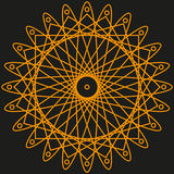 Orange Muster für Ihr Design Lizenzfreie Stockfotografie