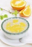 Orange Nachtisch lizenzfreies stockbild