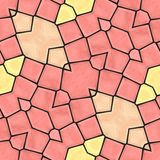 Orange nahtloser mozaic Hintergrund Lizenzfreie Stockfotos