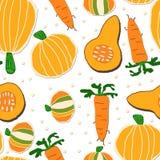 Orange nahtloses Gemüsemuster Lizenzfreies Stockfoto