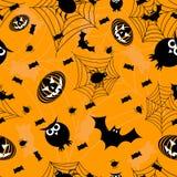 Orange nahtloses Halloween Stockfotografie