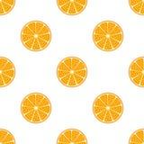Orange nahtloses Muster Flache Art der Karikatur Vegetarisches neues Lebensmittel Lizenzfreies Stockfoto