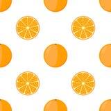 Orange nahtloses Muster Flache Art der Karikatur Vegetarisches neues Lebensmittel Lizenzfreie Stockbilder