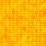 Orange nahtloses Muster mit Hexagonformen Stockfotografie