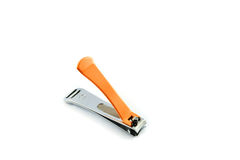 Orange Nail clippers Stock Photography