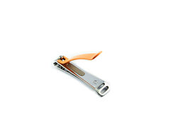 Orange Nail clippers Royalty Free Stock Photography