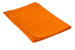 Orange napkin Stock Photography