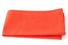 Orange napkin Stock Images