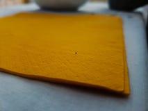 Orange napkin Stock Photography