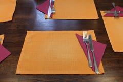 Orange napkin Stock Photos