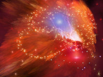 Orange Nebula Royalty Free Stock Photo
