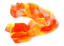 Orange neckerchief isolated Stock Images
