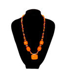 Orange necklace Stock Photos