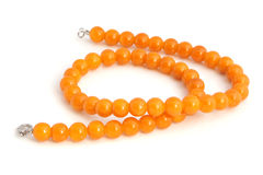 Orange necklace Royalty Free Stock Images
