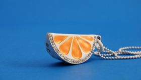 Orange Necklace Stock Image