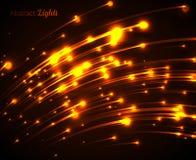 Orange neon light rays Stock Image