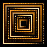 Orange neon square  background Royalty Free Stock Images