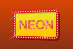 Orange neontecken Arkivfoton