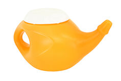 Orange Neti Pot Stock Photography