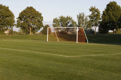 Orange Netting Soccer Goal Royalty Free Stock Photos