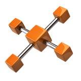 Orange Network and communication icon Stock Photos