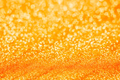 Orange new year blur bokeh abstract background. Stock Photography