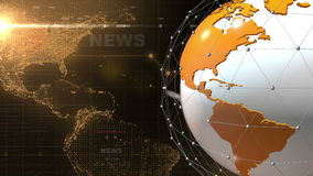 Globe News background generic Orange stock video footage