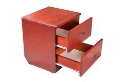 Orange nightstand Möbel lokalisiert auf weißem Hintergrund lizenzfreies stockbild