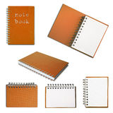 Orange note book collection Stock Images
