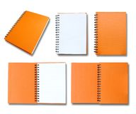 Orange note book collection Royalty Free Stock Images