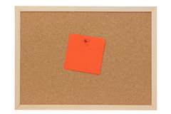 Orange note Stock Images
