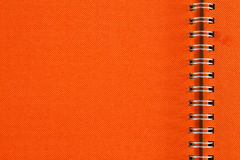 Orange notebook Stock Photography