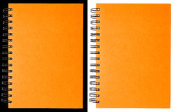 Orange notebook Stock Images