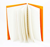 Orange notebook Stock Image
