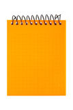 Orange notebook Royalty Free Stock Photo