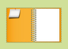 Orange notebook zigzag border Royalty Free Stock Photos