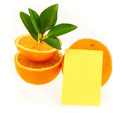 Orange and notepaper Royalty Free Stock Photos