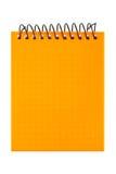 Orange Notizbuch Lizenzfreies Stockfoto