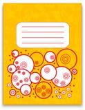 Orange Notizbuch mit Gekritzelverzierung und -beschaffenheit Lizenzfreies Stockbild