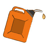 Orange Nozzle giving drop oil Stock Image