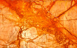 Orange Numidian Sanguine Marble, Cracks Full Frame Royalty Free Stock Image