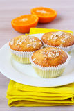 Orange and oat muffins Stock Image