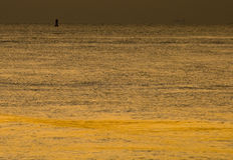 Orange ocean stock photo