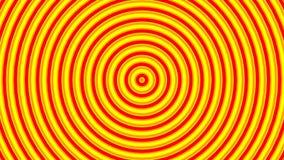 Orange och gula cirklar som skapas från intro Modellanimering, ändlös loopable rörelse stock illustrationer